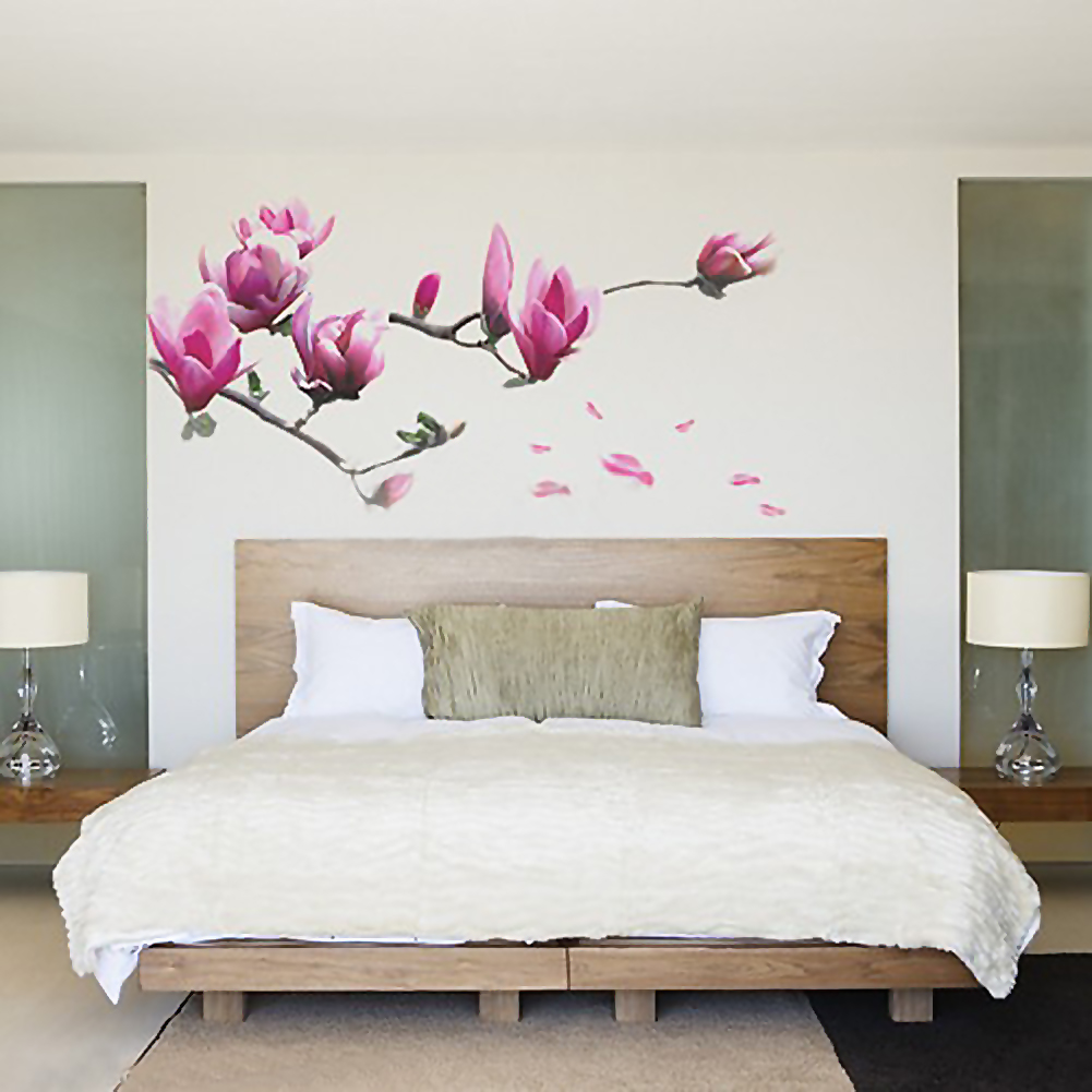 Magnolia-Floral-Flower-Wall-Art-Decal-Decor-Sticker-Vinyl-Wall-Home-Room
